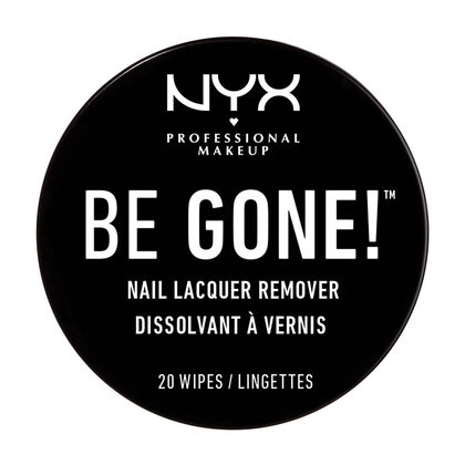 Be Gone! Nail Lacquer Remover Wipes